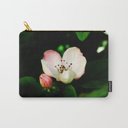 Quince Pink Flower and Bud Carry-All Pouch