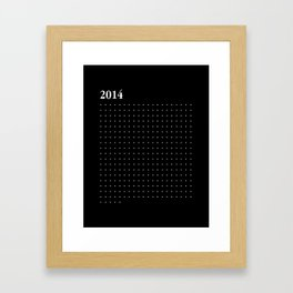 2014 WHITE DOTS Framed Art Print