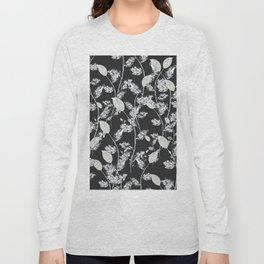 white leaf pattern Long Sleeve T-shirt
