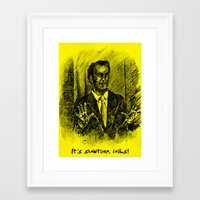 better call saul Framed Art Prints featuring Better Call Saul by Kay Bee