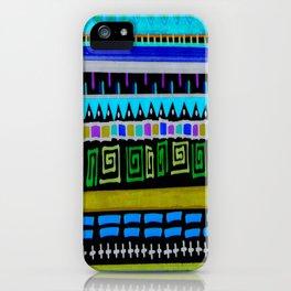 Inverted Aztec Wonderland iPhone Case