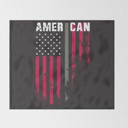 American Military Flag Throw Blanket