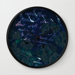 """""""Conquest of the Useless"""" by Werner Herzog Print (v. 11) Wall Clock"""