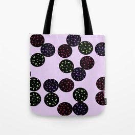 Black Globular with Spotting Color in it Tote Bag