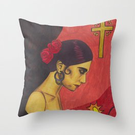 Surfer Rosa (Luxemburg) Throw Pillow
