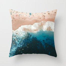 Bronte Beach   Aerial Photography  Throw Pillow