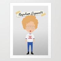 napoleon dynamite Art Prints featuring Napoleon Dynamite by Creo tu mundo