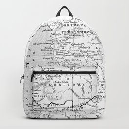 Black And White Vintage Map Of Africa Backpack