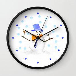 Snowman 01 Wall Clock