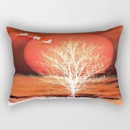 Sun in red Rectangular Pillow