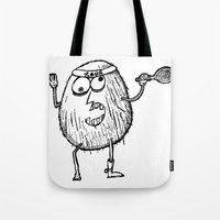 coconut wishes Tote Bags featuring Coconut by Addison Karl