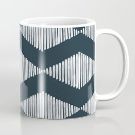 Acoustic Wave Navy Coffee Mug