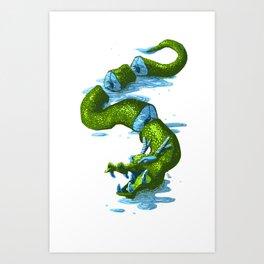 River dragon chops Art Print