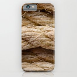 Sisal rope iPhone Case