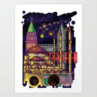 istanbul Art Prints featuring Istanbul  by Aleksandra Jevtovic