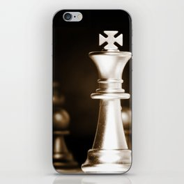 Chess-Sliver King iPhone Skin
