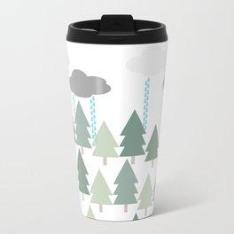 Pacific Northwest Tree and Rain Scene - Portland, PDX, Seattle, Washington, Oregon Travel Mug