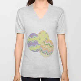 Pastel Easter Eggs I Unisex V-Neck