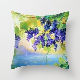 Grapes Italy Throw Pillow