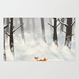 The Fox in the Snow Rug