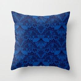 Stegosaurus Lace - Blue Throw Pillow