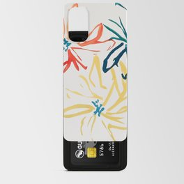 Gestural Blooms Android Card Case