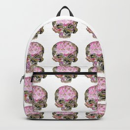 Skull In Pink & Gold Backpack