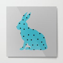 Blue Rabbit Metal Print