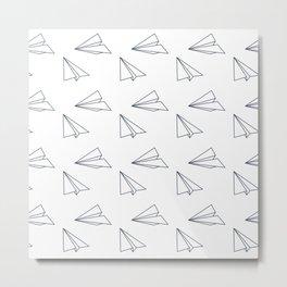 Papar airplane Metal Print