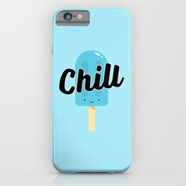 Chill Ice Pop (Blue) iPhone Case