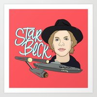 cassia beck Art Prints featuring Star Beck by Chelsea Herrick