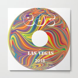 Electric Daisy Carnival Record Metal Print