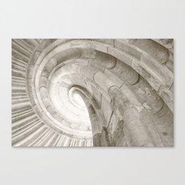 Sand stone spiral staircase 4 Canvas Print