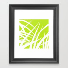 into the wind/green Framed Art Print