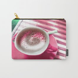 Coffee in Pink Carry-All Pouch