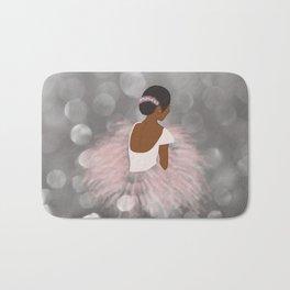 African American Ballerina Dancer Bath Mat