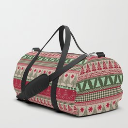 Pine Tree Ugly Sweater Duffle Bag