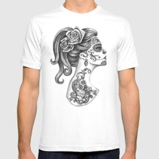 Day of the Dead Girl MEDIUM White Mens Fitted Tee