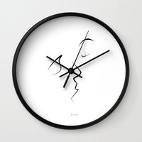 quibe Wall Clocks featuring Kiss/beso/kuss/baiser/beijo/ by quibe