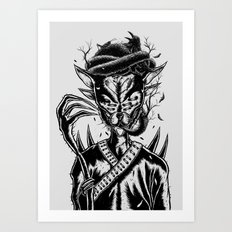 Hermit Cat Art Print