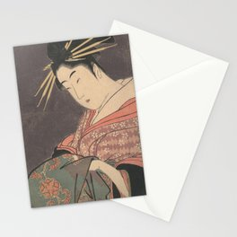 Hanaogi of the Gomeiro by Kitagawa Utamaro Stationery Cards