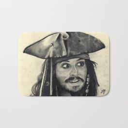 Captain Jack Sparrow ~ Johnny Depp Traditional Portrait Print Bath Mat