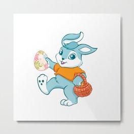 Easter bunny rabbit Metal Print