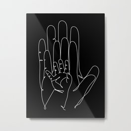 Family Hands Black III  Metal Print