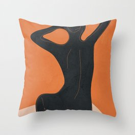 Abstract Nude I Throw Pillow