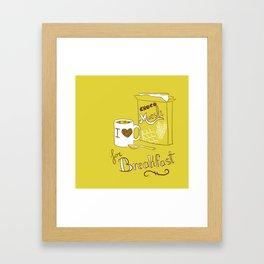 I love chocomuesli! Framed Art Print
