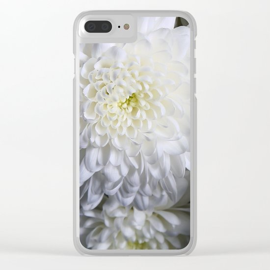 white petals Clear iPhone Case