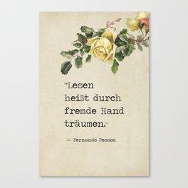 Fernando Pessoa quote Canvas Print