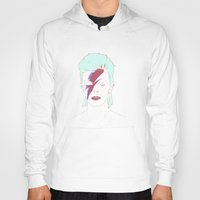 bowie Hoodies featuring Bowie by Itxaso Beistegui Illustrations