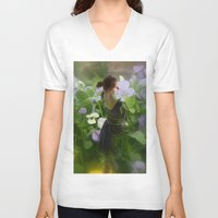 fairies V-neck T-shirts featuring Flower Fairies by BryonyEloise